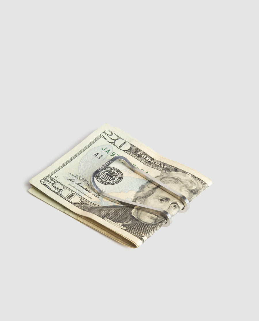 Craighill Square Money Clip - Steel