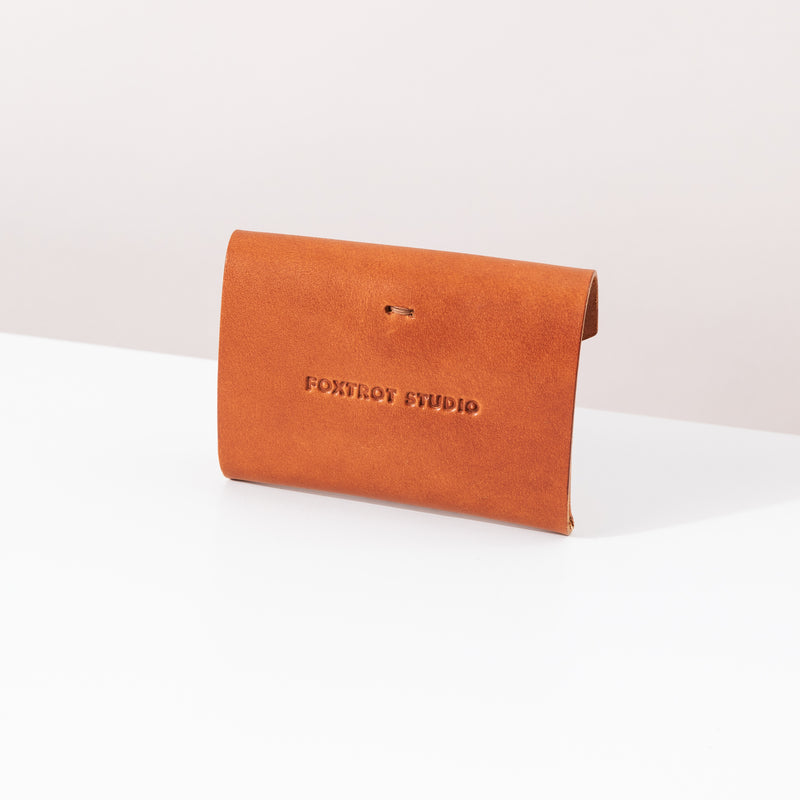 Button Wallet - Cognac
