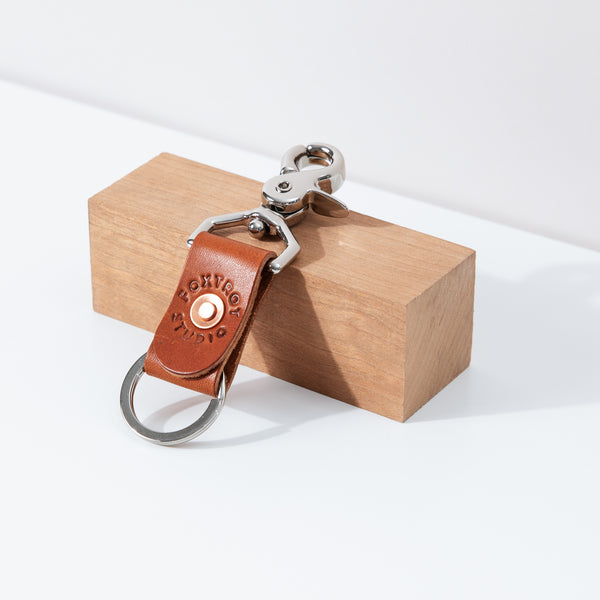 Simple Key Clip - Cognac