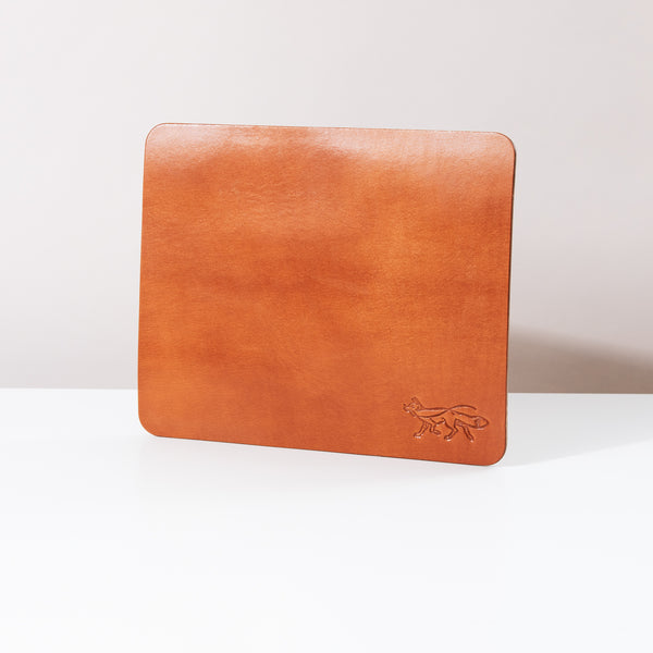 Small Leather Mousepad - Cognac