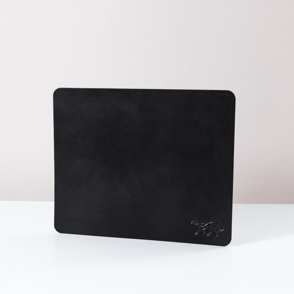 Large Leather Mousepad - Black