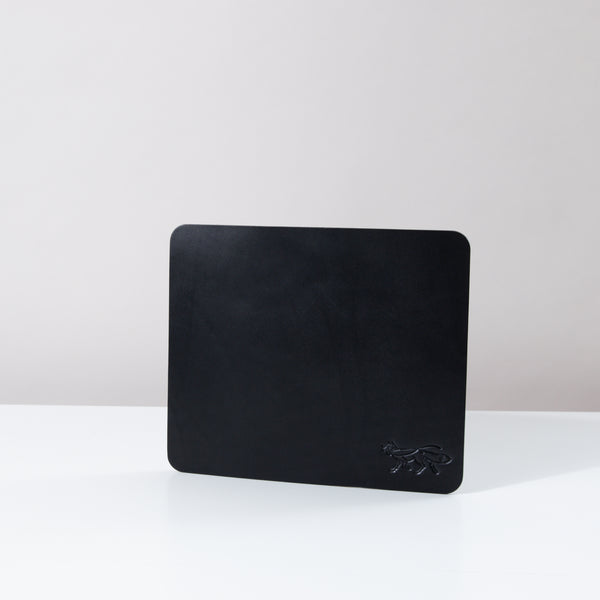 Small Leather Mousepad - Black