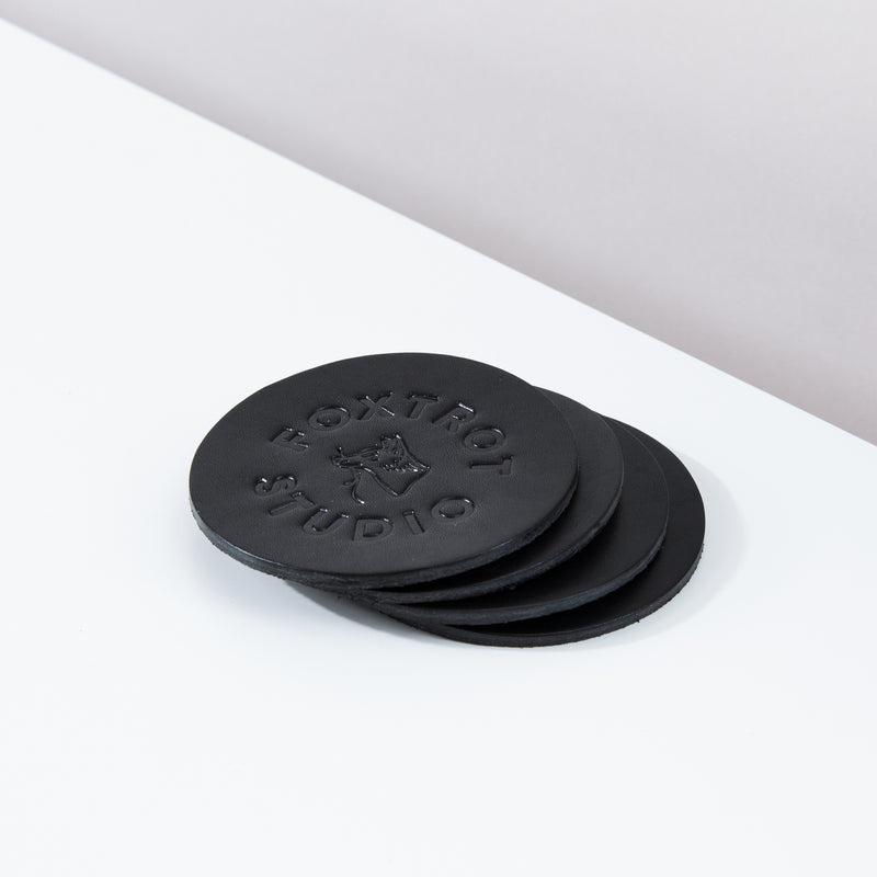 Logo Coaster Set - Black