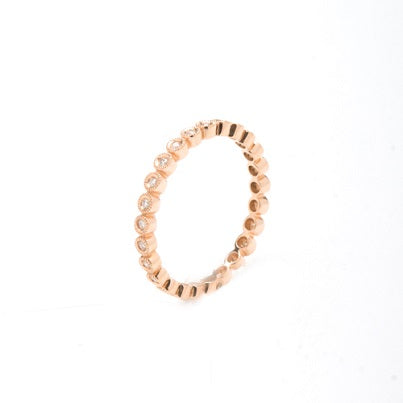 14kt Rose Gold Stackable Diamond Eternity Band