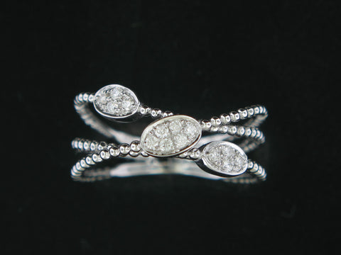 14KT. White Gold and Diamond Fashion Ring