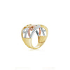 14kt Tri-Color Diamond Fashion Ring