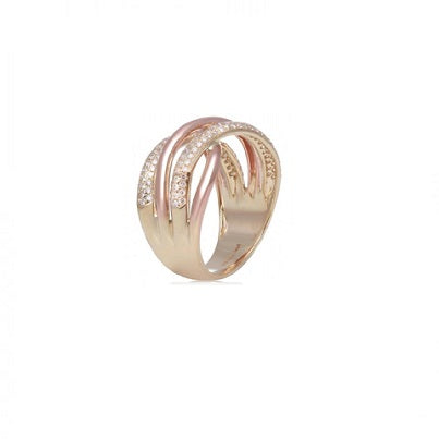 14kt Yellow And Rose Gold Diamond Ring