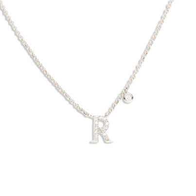 14kt Diamond Initial Necklace