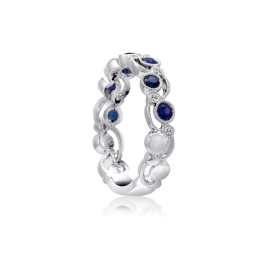 14kt Sapphire and Diamond Band