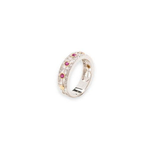 14kt Ruby and Diamond Band