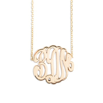 14kt Small Monogram Necklace