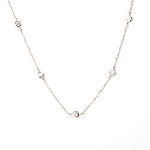 Sterling Silver and CZ By the Yard Necklace