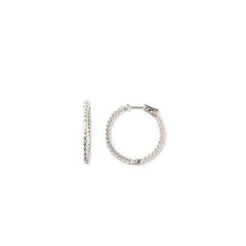 Sterling Silver and CZ Hoops