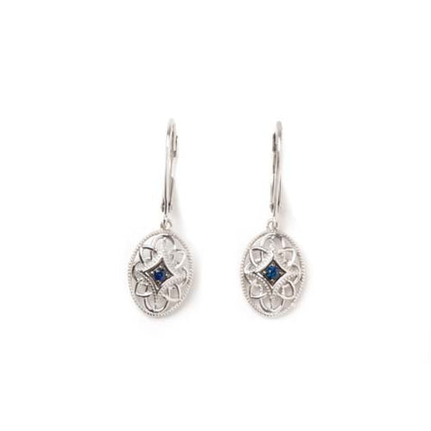 Sterling Silver and Sapphire Earrings