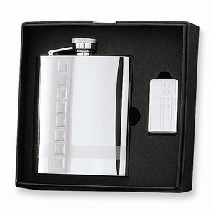 8 Oz. Stainless Steel Flask And Money Clip Gift Set