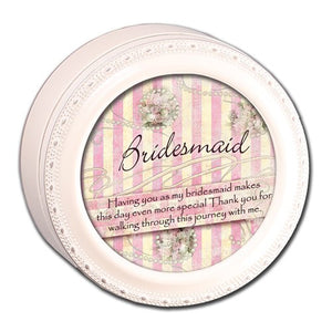 Bridesmaid Round Ivory Keepsake Box