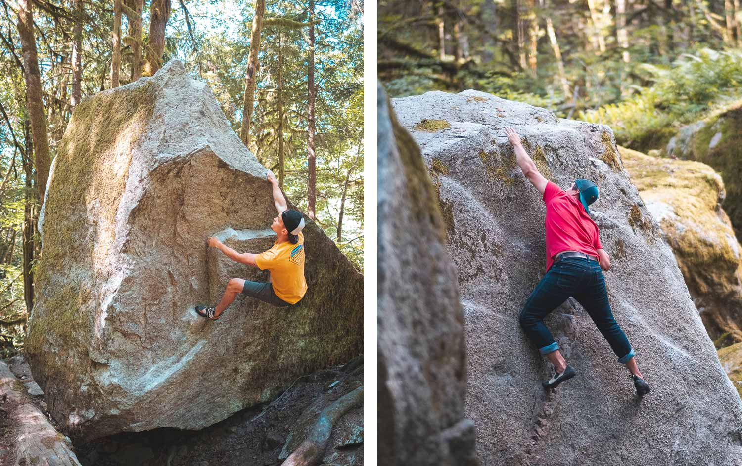 Climbing Clean Boulders Squamish