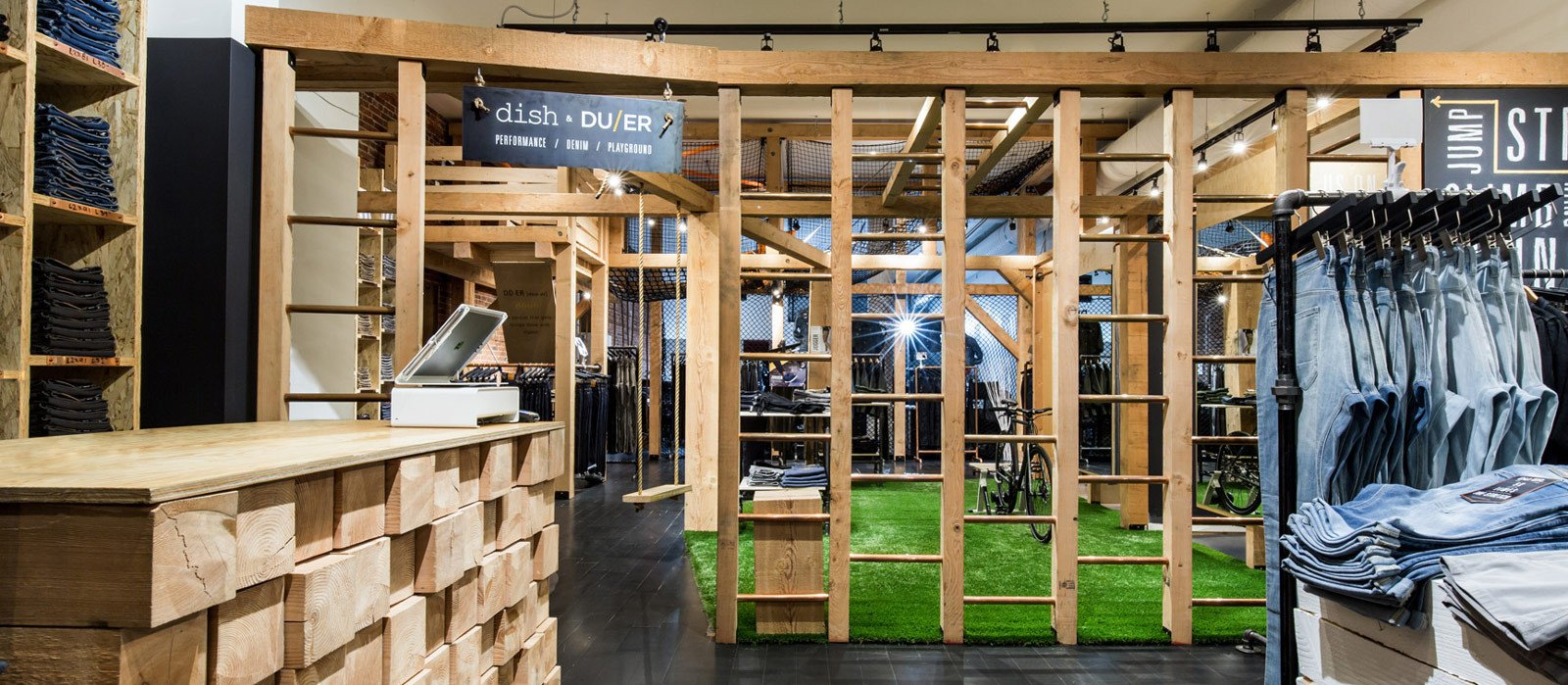 Peformance Denim Playground at Dish and Duer Flagship Store in Vancouver