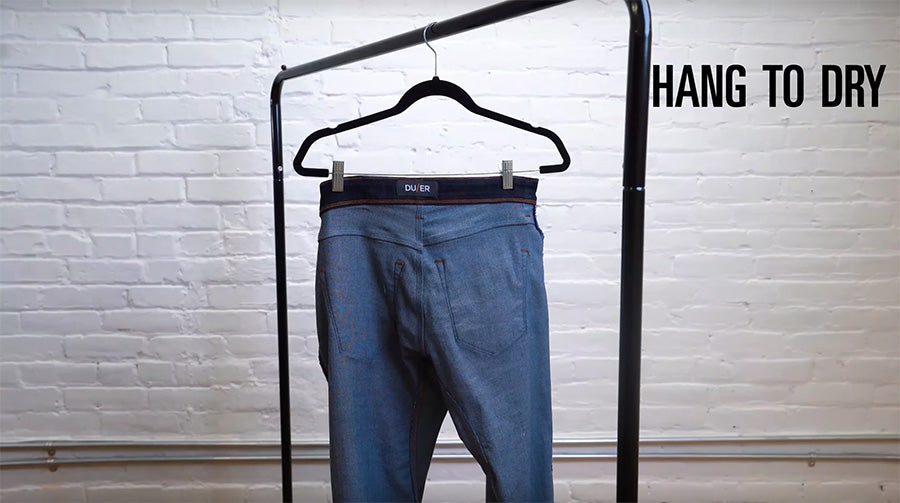 hang dry jeans