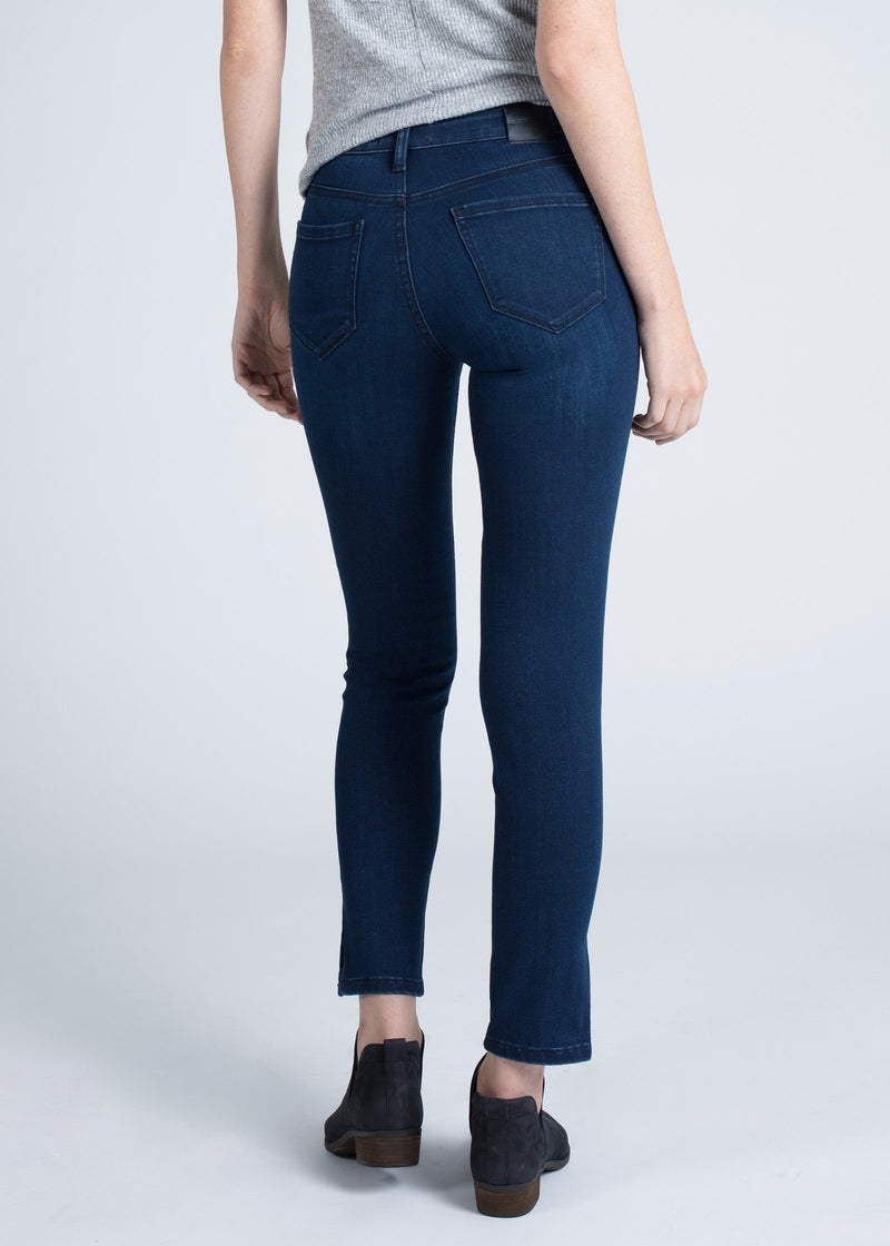 Dish by DUER Adaptive Denim Skinny Side Slit - Oceanic