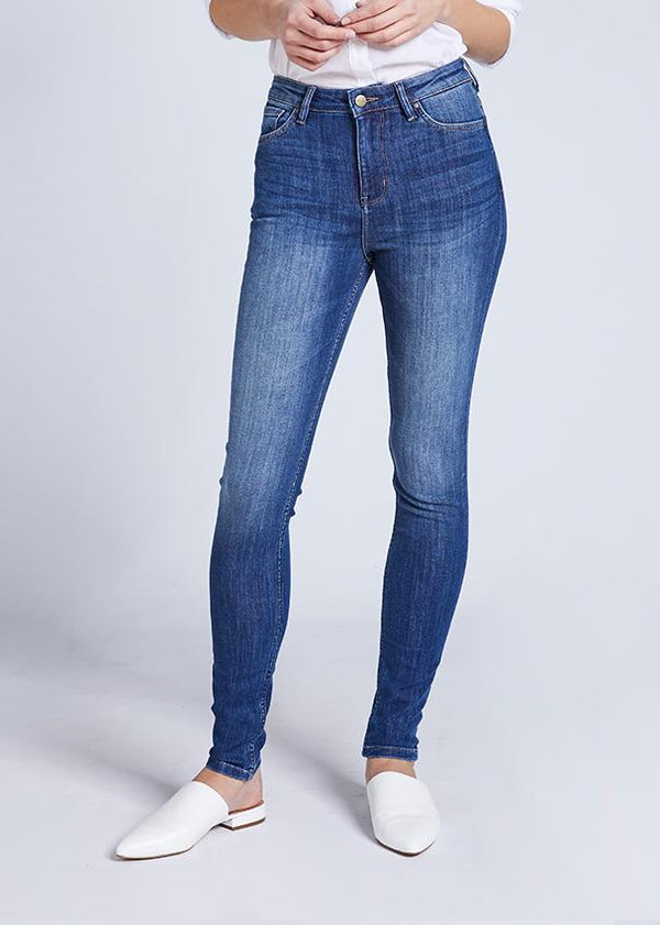 Dish by DUER Adaptive Denim High Rise Skinny - Heritage Blue