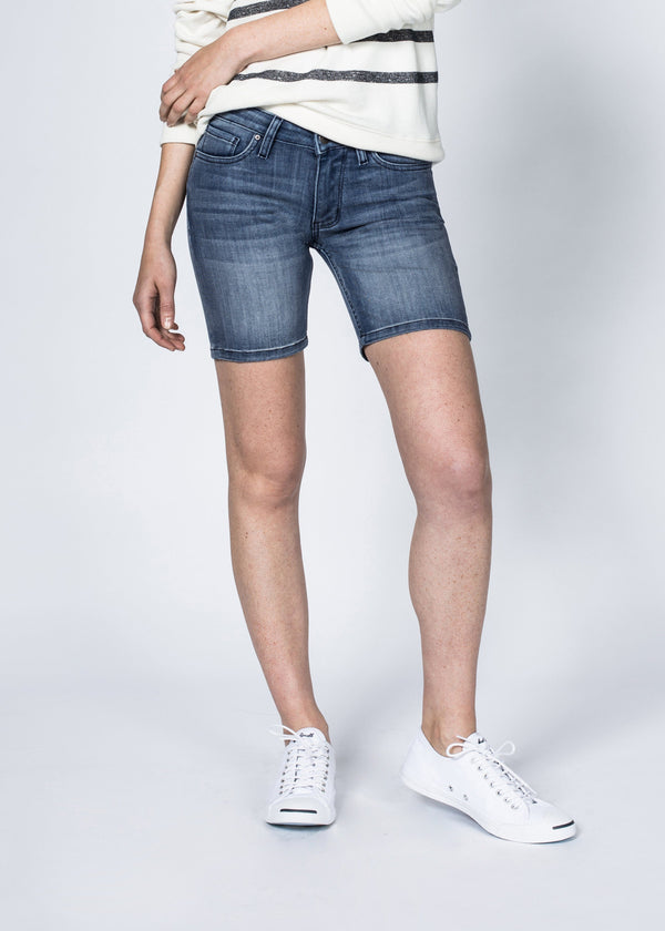 Dish by DUER Adaptive Denim Mid Thigh Short - Sechelt
