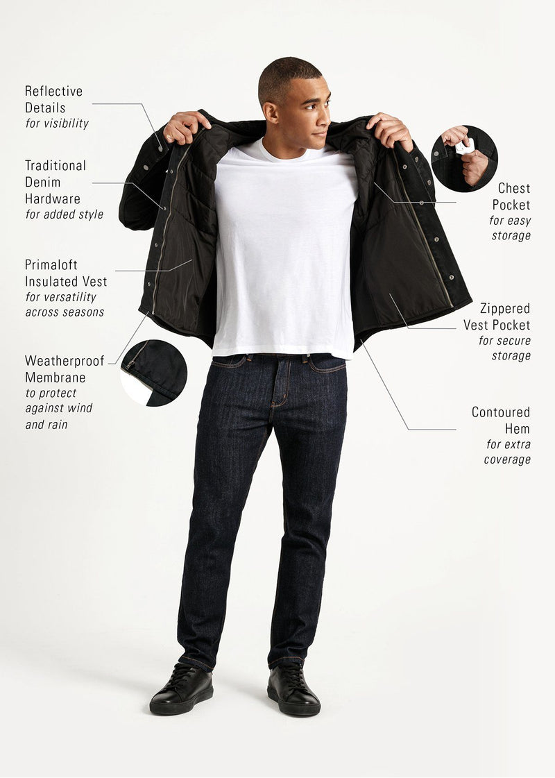 3-in-1 All-Weather Denim Jacket