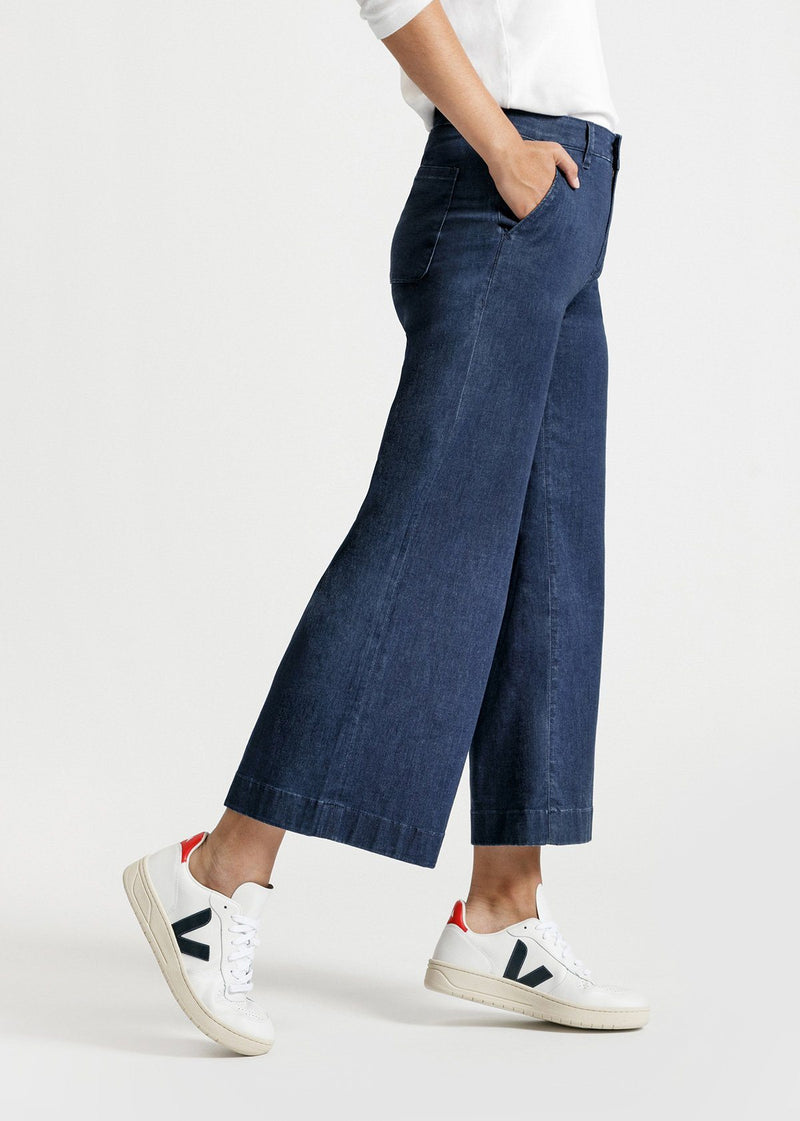Dish by DUER Featherweight Denim Wide Leg Crop