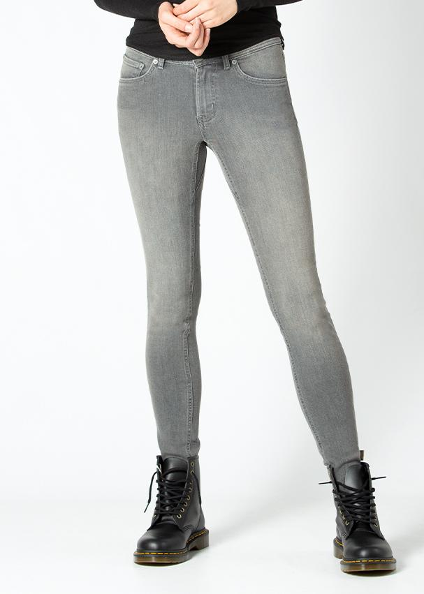 grey skinny fit stretch jeans front
