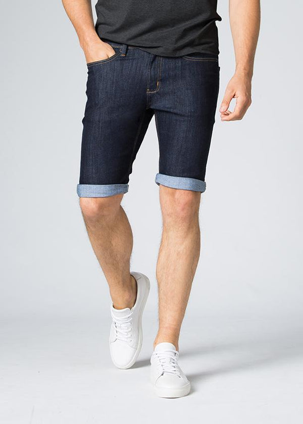Duer Mens Blue Slim Fit Performance Denim Short