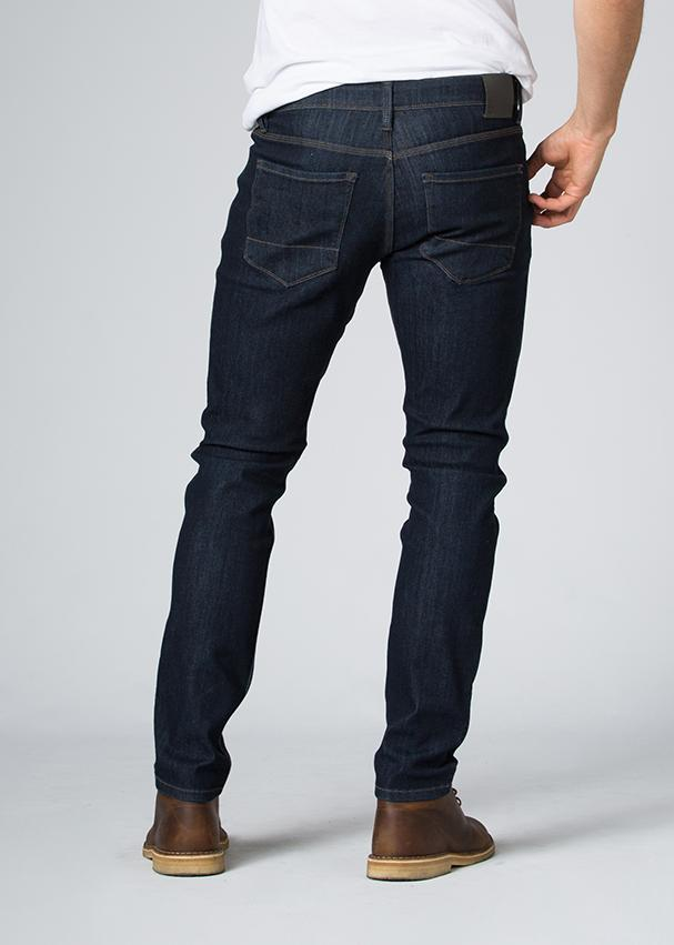 indigo water resistant stretch jeans back
