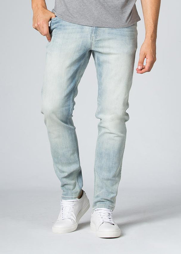 acid wash fit stretch jeans front