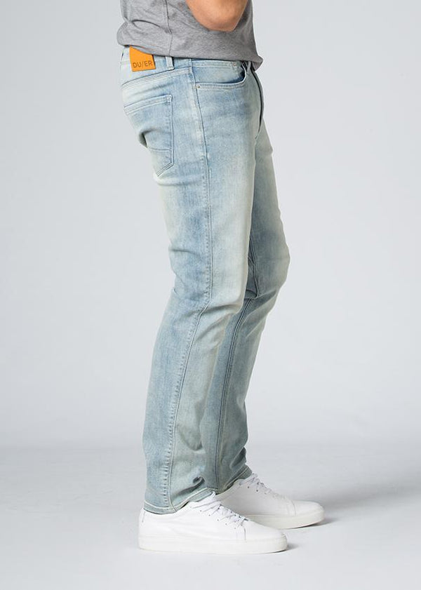 acid wash fit stretch jeans side