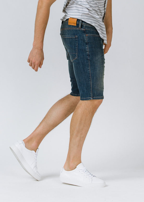Medium Wash Performance Denim Short profile