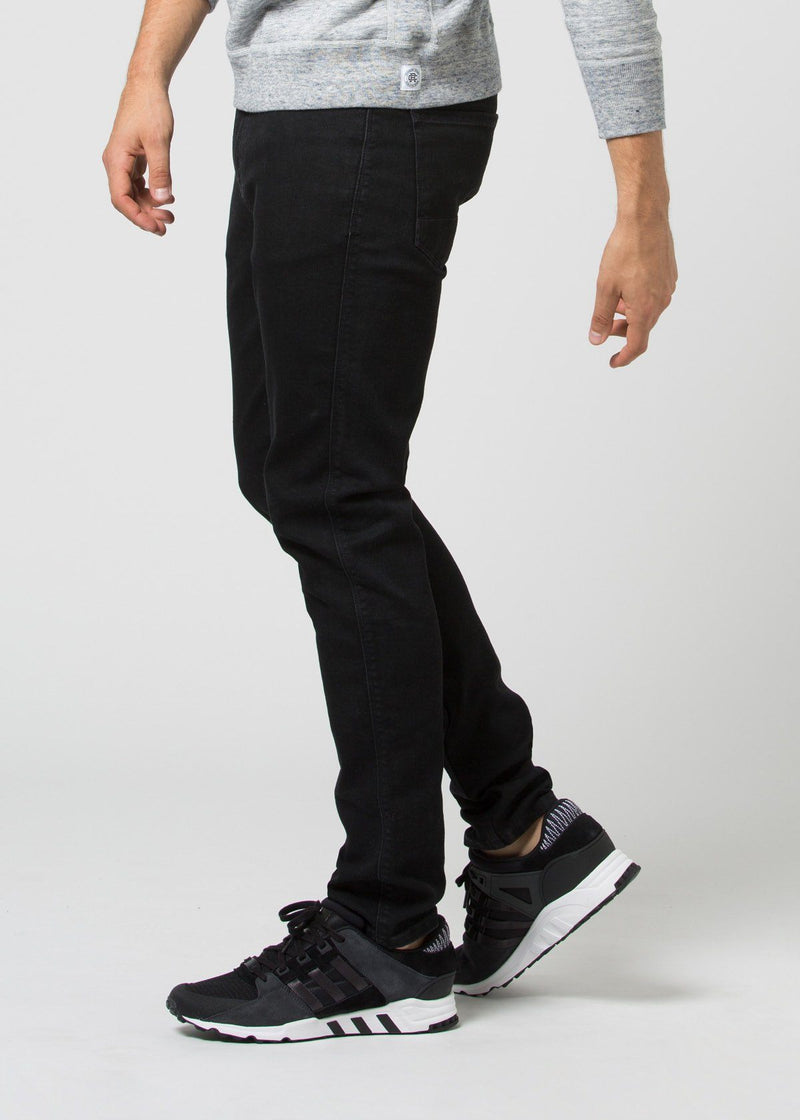 black water resistant stretch jeans side