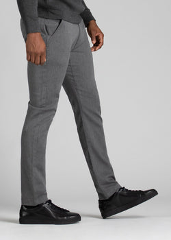 Mens heather grey slim fit summer chinos side