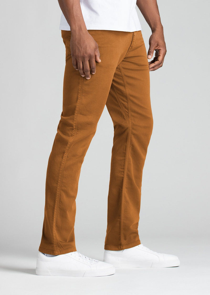 mens relaxed burnt orange dress sweatpant side