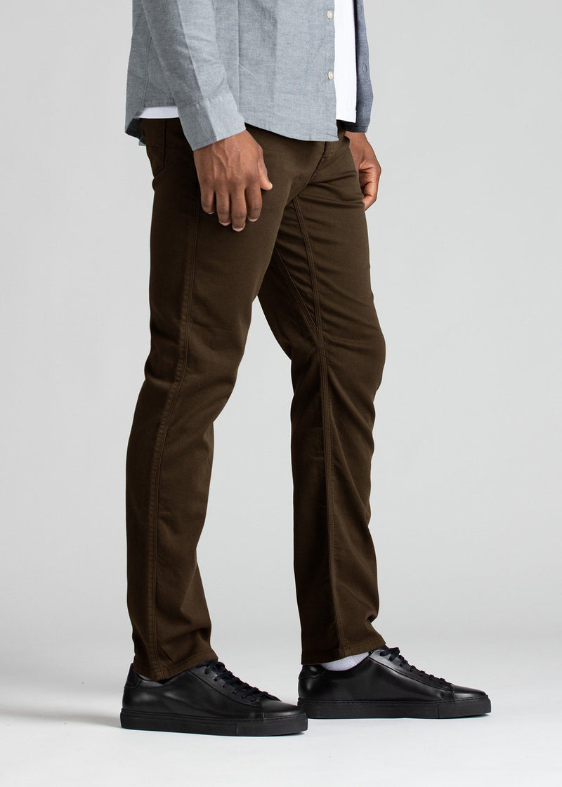 mens relaxed brown dress sweatpant side