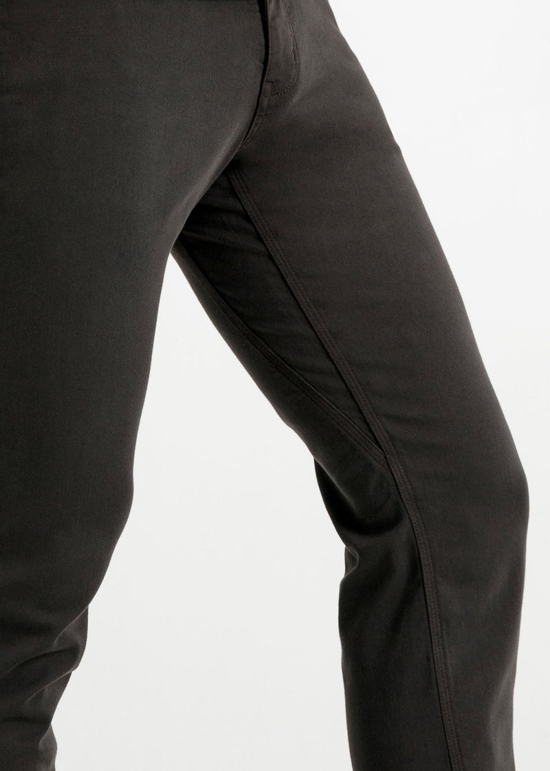 mens slim dark grey dress sweatpant side detail