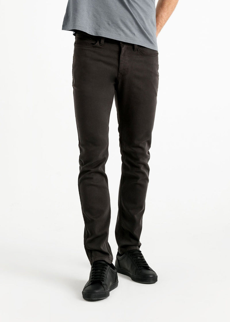 mens slim dark grey dress sweatpant front