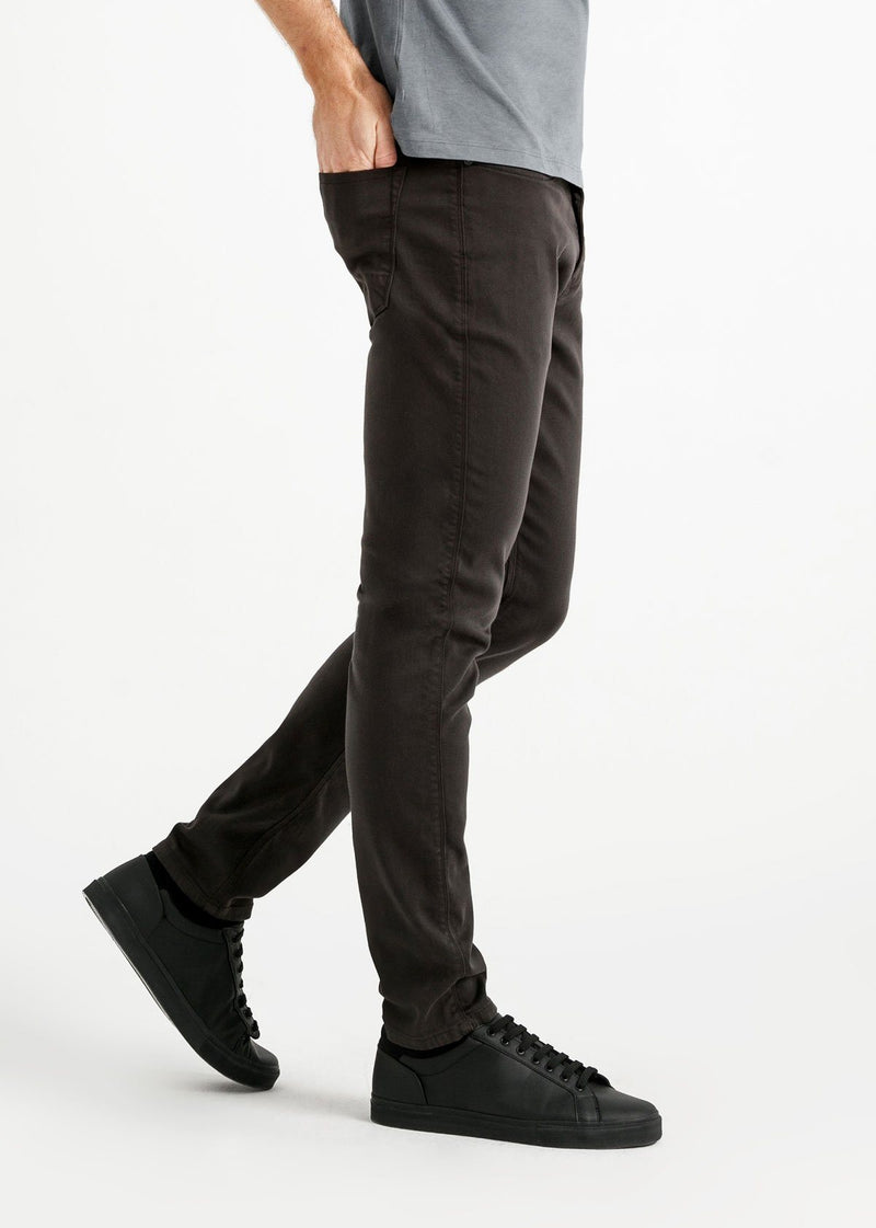 mens slim dark grey dress sweatpant side