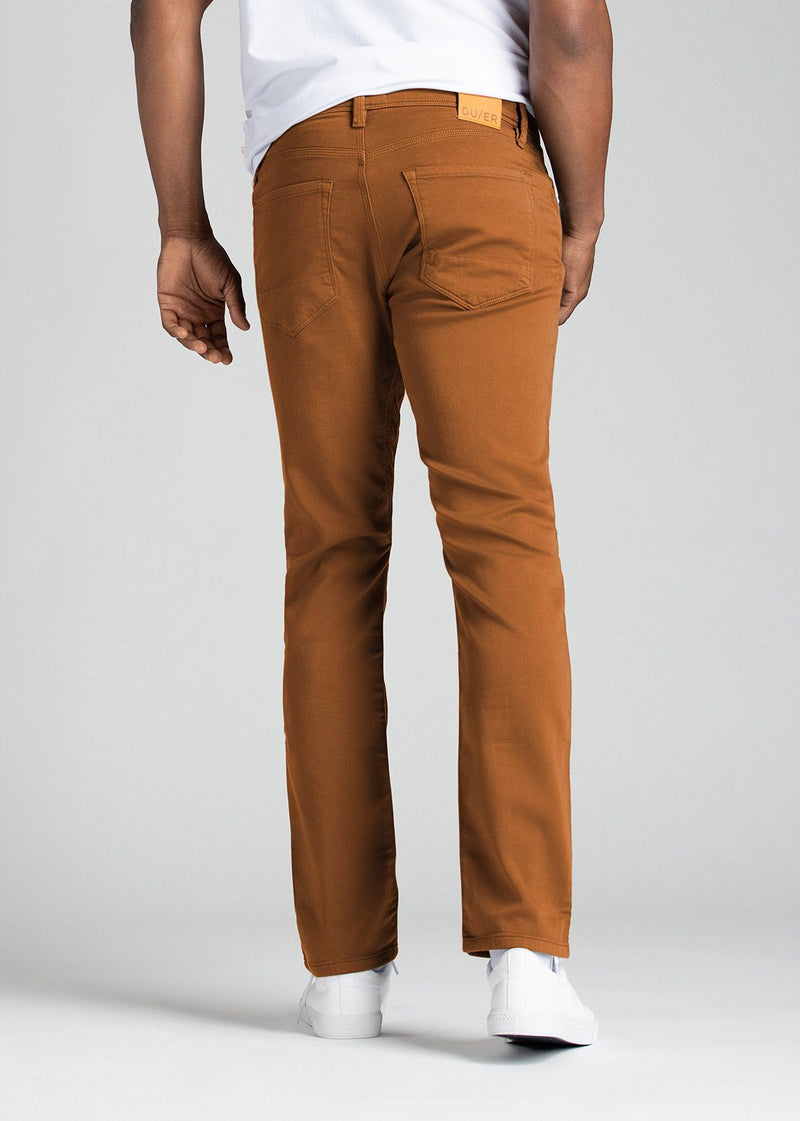 mens relaxed burnt orange dress sweatpant back