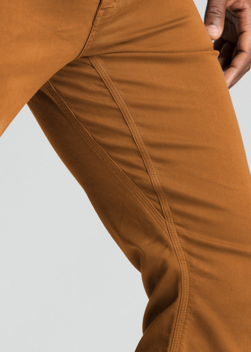 mens relaxed burnt orange dress sweatpant side detail