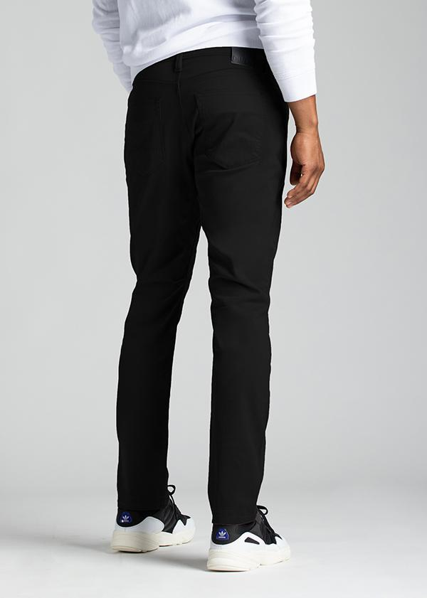mens relaxed taper lightweight black pants back