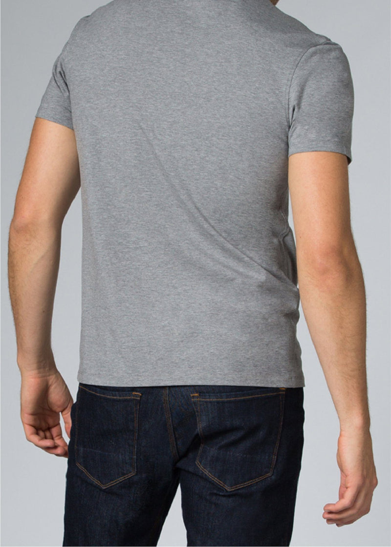 mens grey breathable lightweight t-shirt back