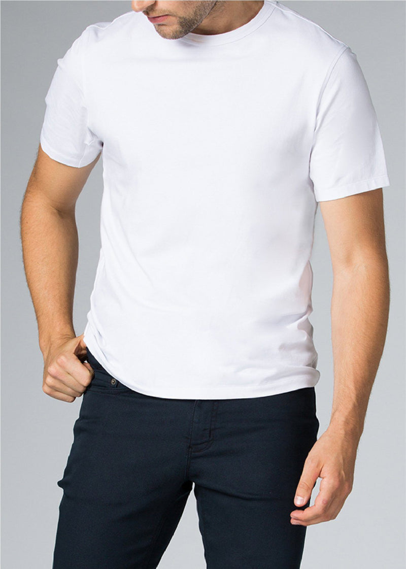 mens white breathable lightweight t-shirt front