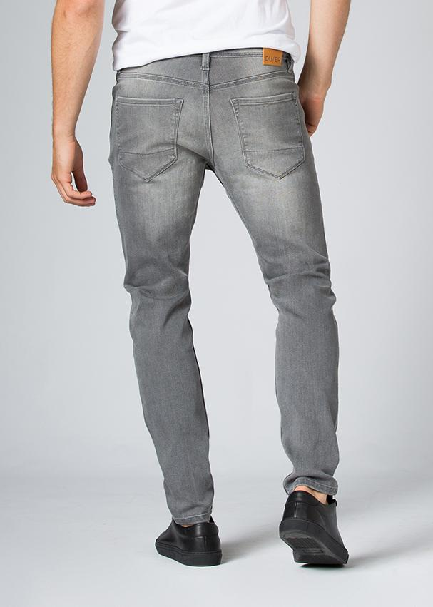 grey wash slim fit stretch jeans back