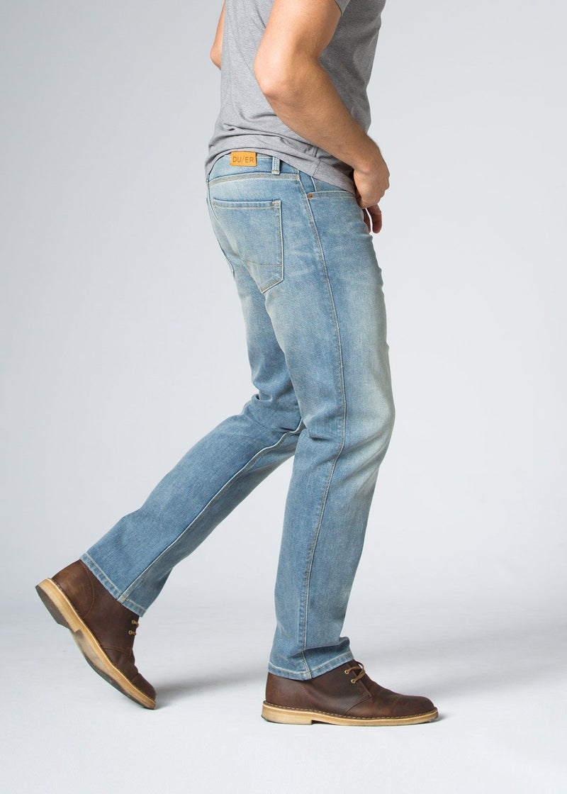 Midweight Light Blue Stretch Denim Side