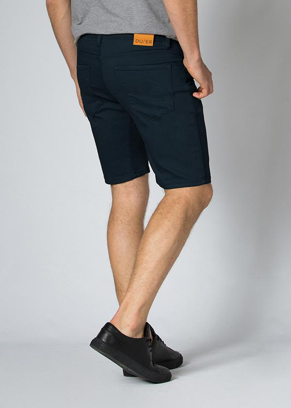 Men's Dark Teal Slim Fit Stretch Short Back