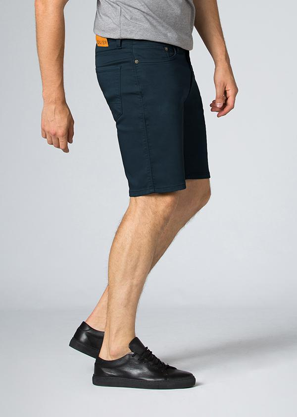 Men's Dark Teal Slim Fit Stretch Short Side